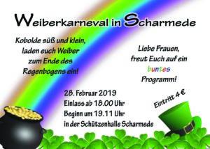 kfd-Einladung zum Weiberkarneval 2019 @ Schützenhalle Scharmede | Salzkotten | Nordrhein-Westfalen | Deutschland