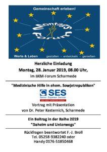 """28.1.2019 8:00 Uhr Vortrag """"Medizinische Hilfe in ehem. Sowjetrepubliken"""" im BKM Forum @ BKM Forum / Sparkasse   Salzkotten   Nordrhein-Westfalen   Deutschland"""