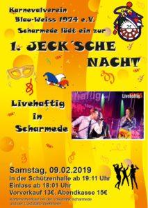 Jeck´sche Nacht @ Schützenhalle Scharmede | Salzkotten | Nordrhein-Westfalen | Deutschland