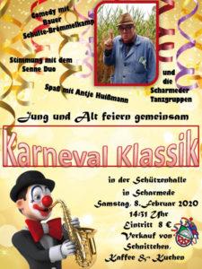 Karneval Klassik - Jung und Alt feiern gemeinsam @ Schützenhalle Scharmede